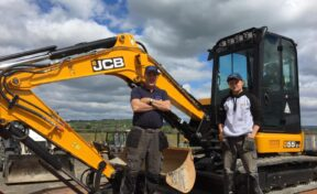 Philip Wilson Drainage Collects JCB Select 55Z