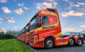 Manfreight take delivery of FIRST new model, Volvo FH trucks in NI!